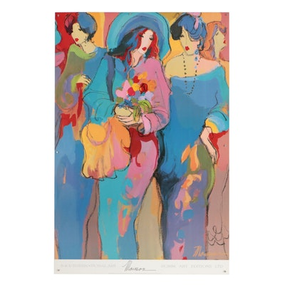 """Offset Lithograph after Isaac Maimon """"Angels"""""""