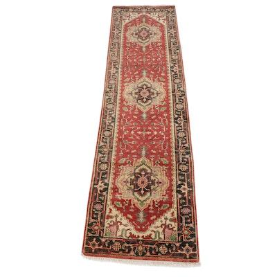 2.7' x 10' Hand-Knotted Indo-Persian Heriz Serapi Carpet Runner
