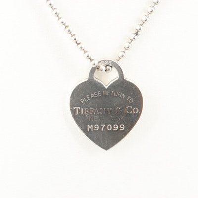 """Tiffany & Co. """"Return to Tiffany"""" Sterling Silver Pendant Necklace"""
