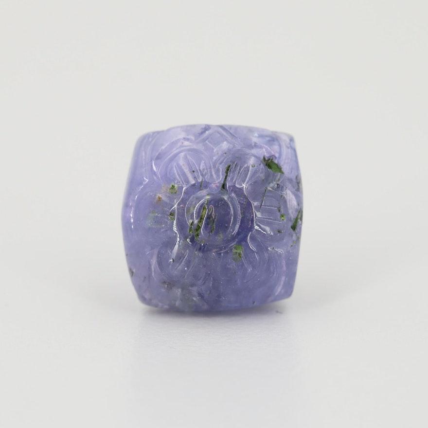 Loose 10.36 CT Tanzanite Gemstone