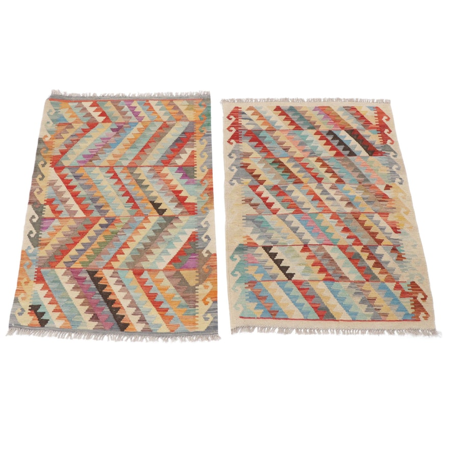 2.8' x 4' Handwoven Turkish Kilim Rugs