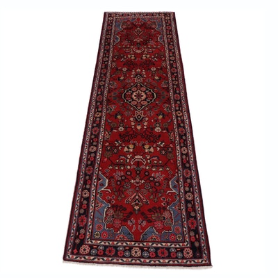 3.1' x 10.8' Hand-Knotted Persian Malayer Carpet Runner, Circa 1970s