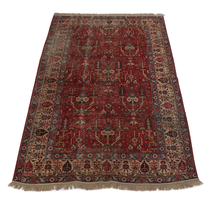 5.4' x 8.4' Hand-Knotted Persian Tabriz Rug, Circa 1930s