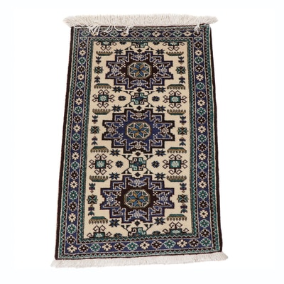 2.3' x 3.8' Hand-Knotted Persian Ardebil Rug, Circa 1970s