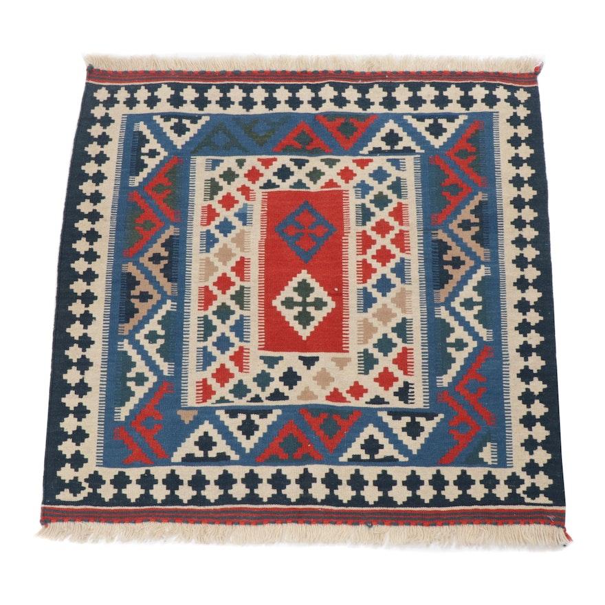 3.3' x 3.5' Handwoven Persian Shiraz Kilim Rug