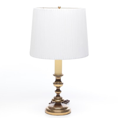 Brass Candlestick Table Lamp, 1970s