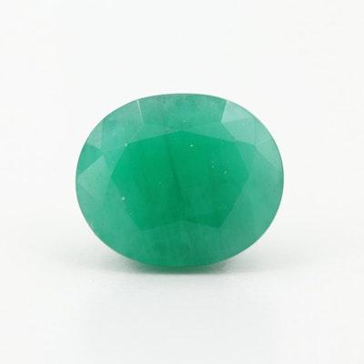 Loose 6.23 CT Emerald Gemstone