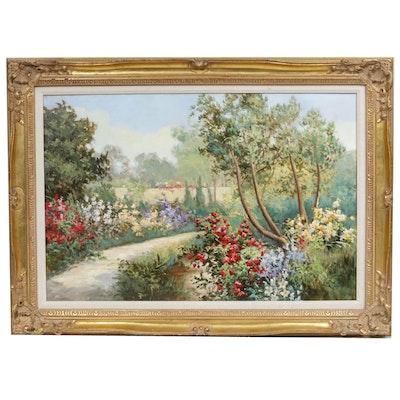 Garden Landscape Oil Painting
