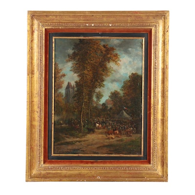 19th Century French Landscape Oil Painting