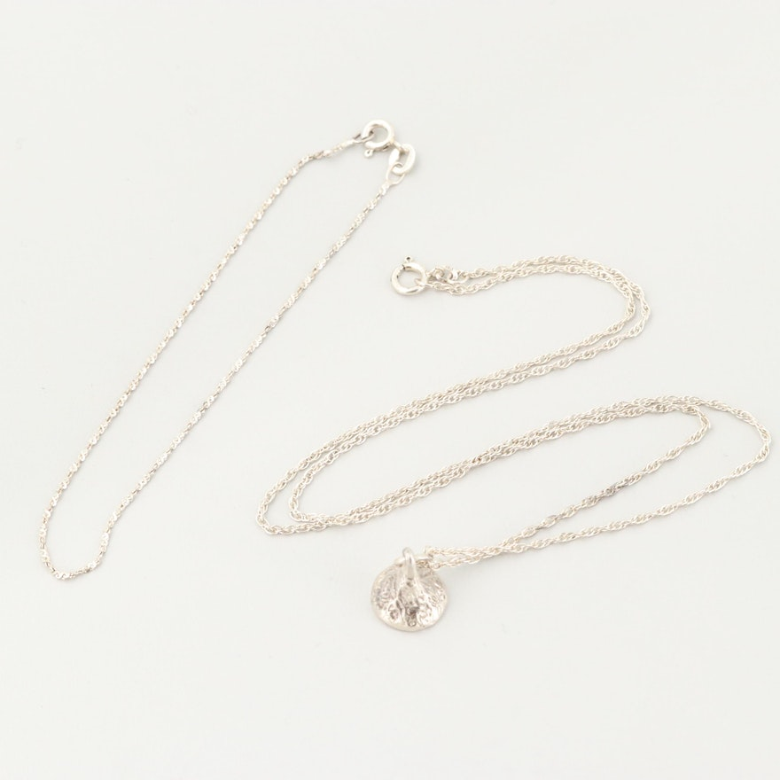 Sterling Silver Pendant Necklace and Bracelet