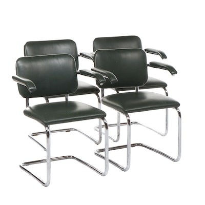 """Marcel Breuer Upholstered """"Cesca"""" Armchairs for Knoll, Circa 1980"""