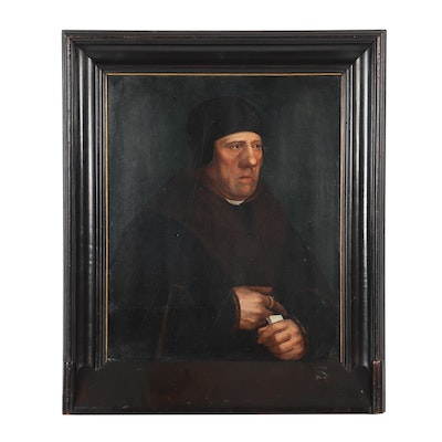 "Copy Oil Painting After Hans Holbein ""Portrait of Sir Henry Wyatt"""