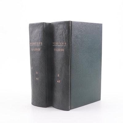 """""""Webster's Eulogies"""" by Daniel Webster, 1850s"""