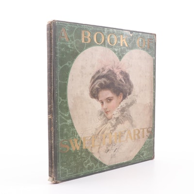 "1908 ""A Book of Sweethearts"" Signed by Artist Wickliffe B. Moore"