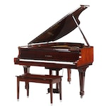 Kawai KG-2E Rosewood Finish Baby Grand Piano with Bench, circa 1990