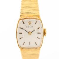 Vintage Rolex 14K Yellow Gold Stem Wind Wristwatch
