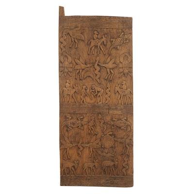 Senufo Style Wooden Granary Door