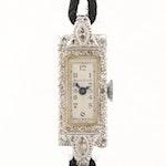 Vintage Bulova Platinum Diamond Wristwatch