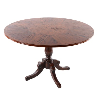 Federal Style Walnut Breakfast Table, by Colony Furniture Late 20th Century