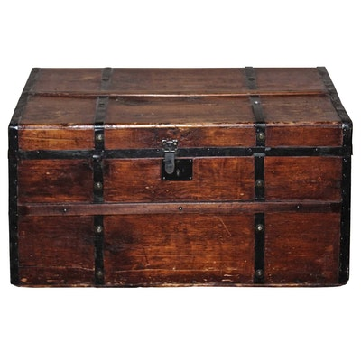 Blanket Chest with Mahogany Finish, Late 19th Century