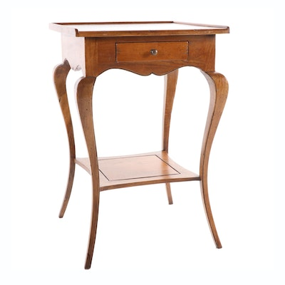 Chestnut French Country Style One Drawer Stand, Late 20th Century