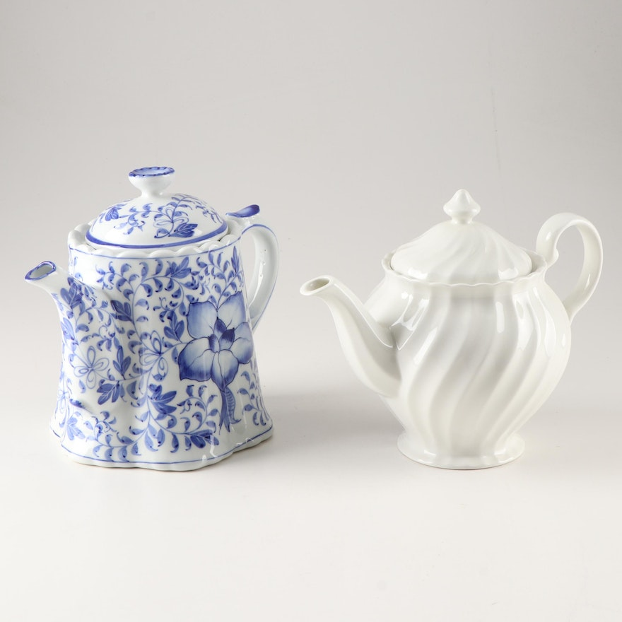 "Johnson Brothers ""Regecy"" Teapot and Andrea by Sedak Teapot"