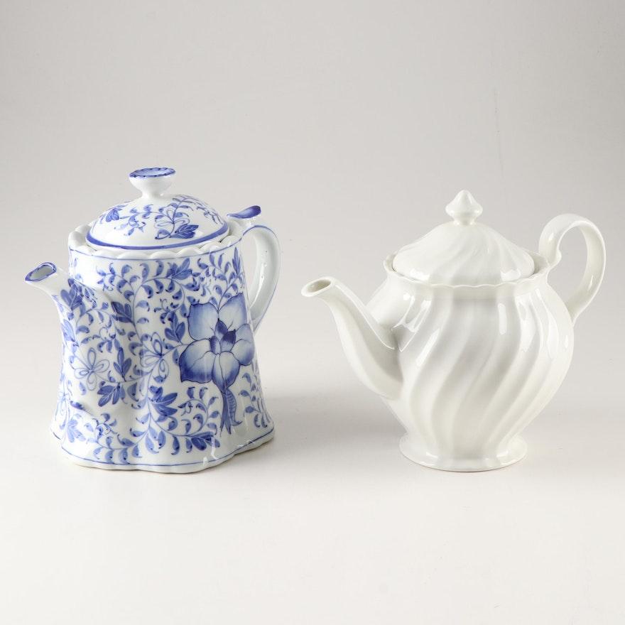 "Johnson Brothers ""Regecy"" Teapot and Andrea by Sedak Teapot"