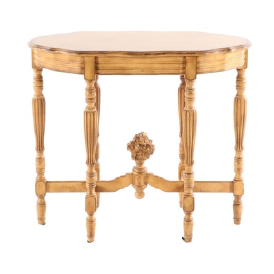 Rococo Style Pine Occasional Table, Contemporary