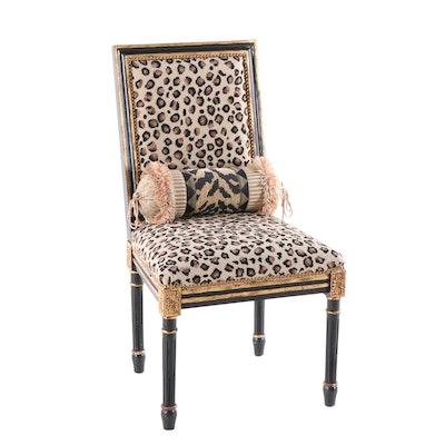 Louis XVI Style Needlepoint Leopard Chair
