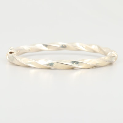 Sterling Silver Twisted Bangle Bracelet