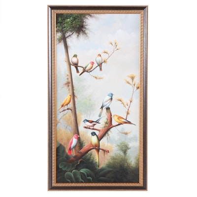 """Chelsea House Oil Painting """"Song Birds II"""""""