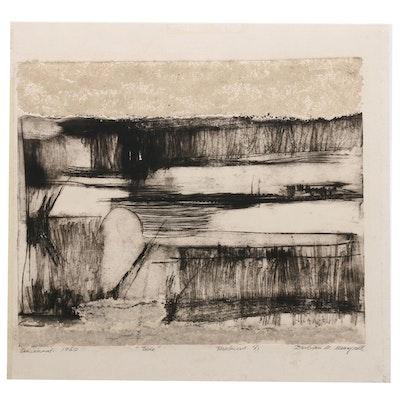 "Barbara M. Meerphol Intaglio Print ""Tide"""