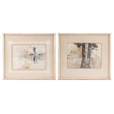 Japanese Watercolor Paintings