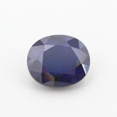 Loose 12.84 CT Blue Sapphire Gemstone