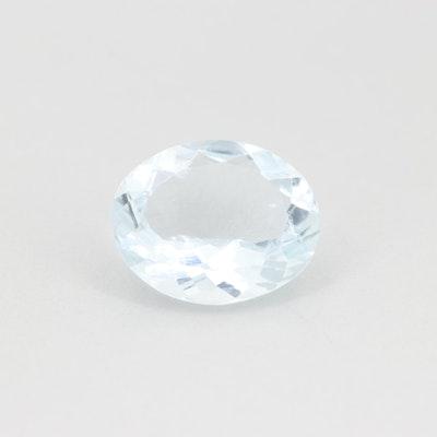 Loose 3.55 CT Aquamarine Gemstone