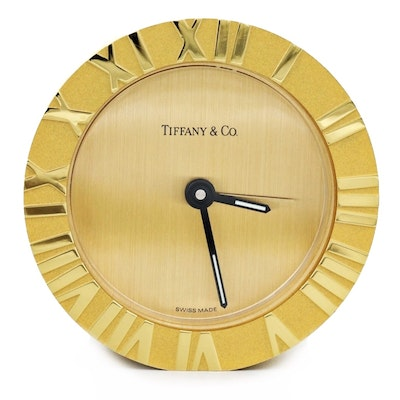 "Tiffany & Co. ""Atlas"" Alarm Clock"