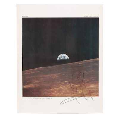 Neil Armstrong Signed Official NASA Print, JSA Full Letter