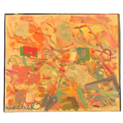 Paul Chidlaw Abstract Offset Lithograph