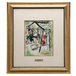 """Marc Chagall Color Lithograph for """"Derrière le Miroir"""""""