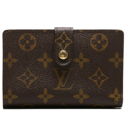 Louis Vuitton Monogram Canvas Porte Monnaie Viennois Kisslock Wallet