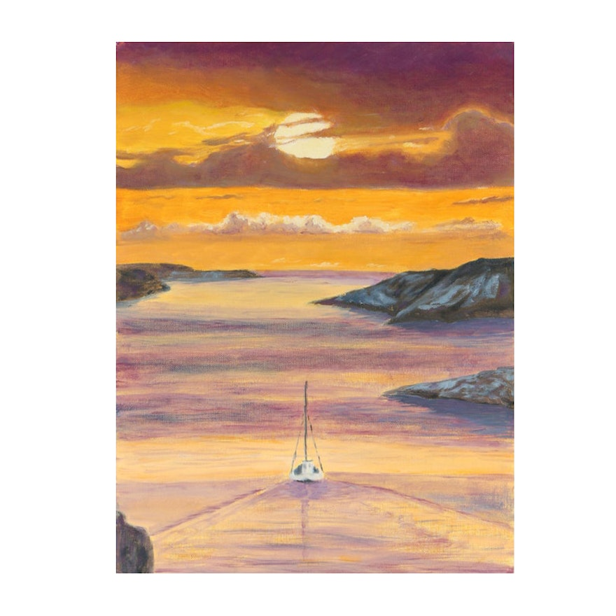 Oil Painting of Seascape