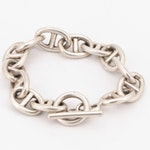 Mexican Sterling Silver Anchor Link Bracelet