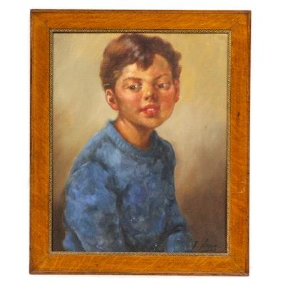 Karoly Nagy Portrait Oil Painting