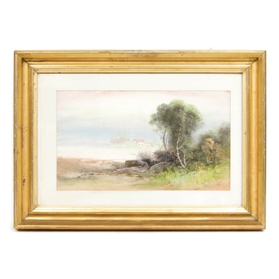 William Henry Chandler Landscape Pastel Drawing