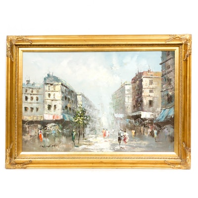 Peter Cityscape Oil Painting