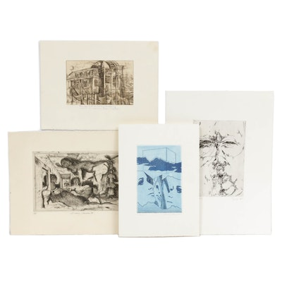 20th Century European Etchings Including Werner Berges