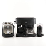 Krups Espresso Maker and Toaster Grouping Including Braun Coffee Grinder
