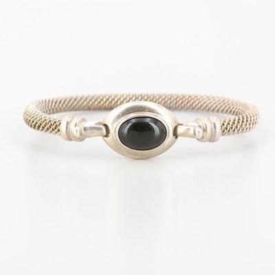 Sterling Silver Black Onyx Bangle Bracelet