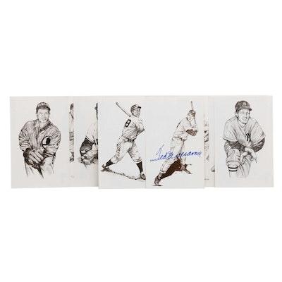 1989 Baseball Postcards, Includes Signed Ted Williams, COA