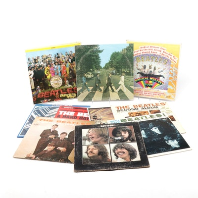 The Beatles Vinyl Records Including Magical Mystery Tour and Other Beatles